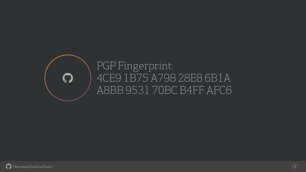 How people build software ! PGP Fingerprint: 4C...