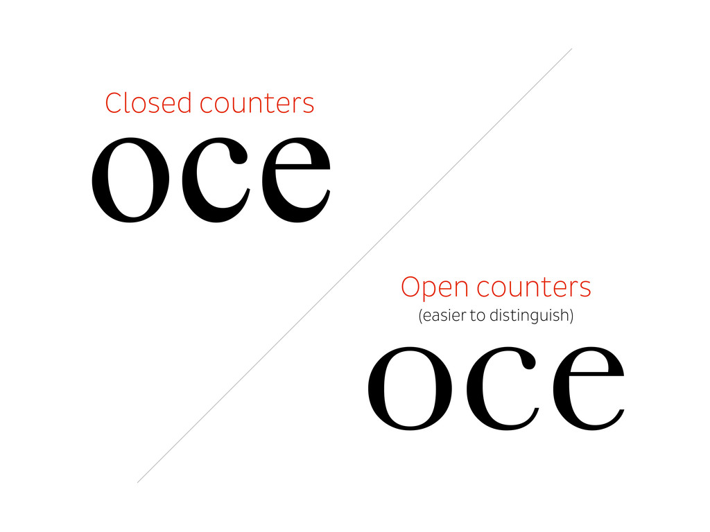Closed counters oce oce Open counters (easier t...