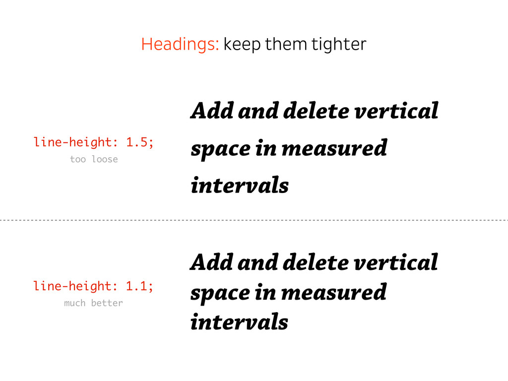 Add and delete vertical space in measured inter...
