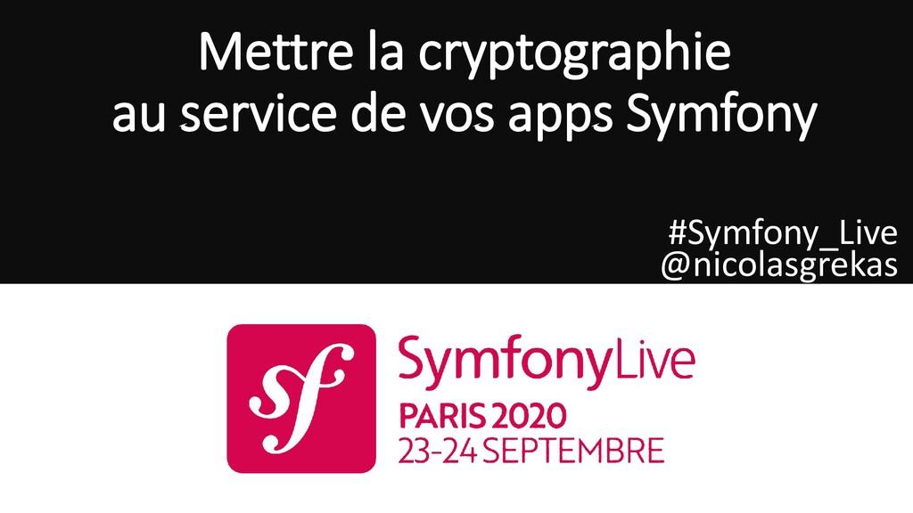 Mettre la cryptographie au service de vos apps ...