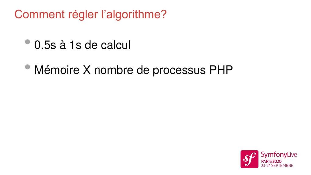 Comment régler l'algorithme? • 0.5s à 1s de cal...