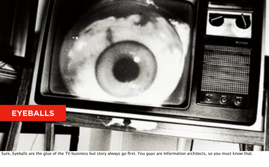 EYEBALLS Sure, Eyeballs are the glue of the TV ...
