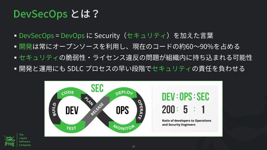 DevSecOps § DevSecOps = DevOps Security § 60 90...