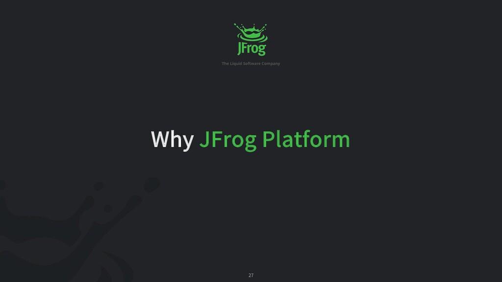 27 Why JFrog Platform