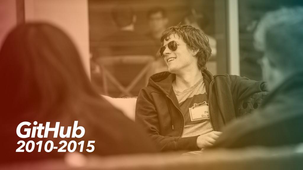 GitHub 2010-2015