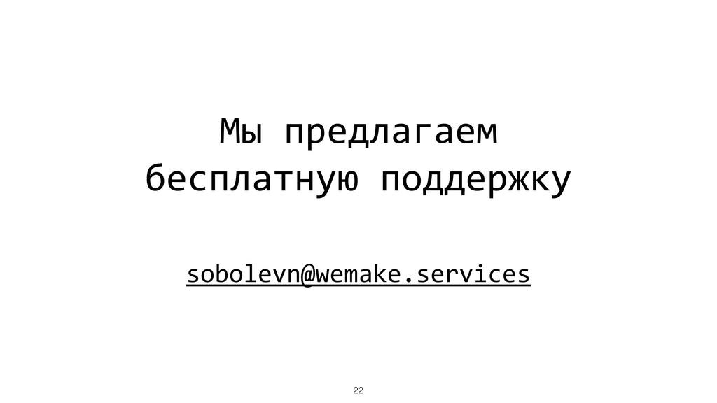 Мы предлагаем бесплатную поддержку sobolevn@wem...