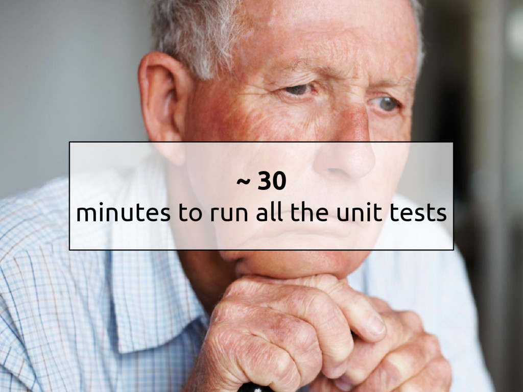 ~ 30 minutes to run all the unit tests