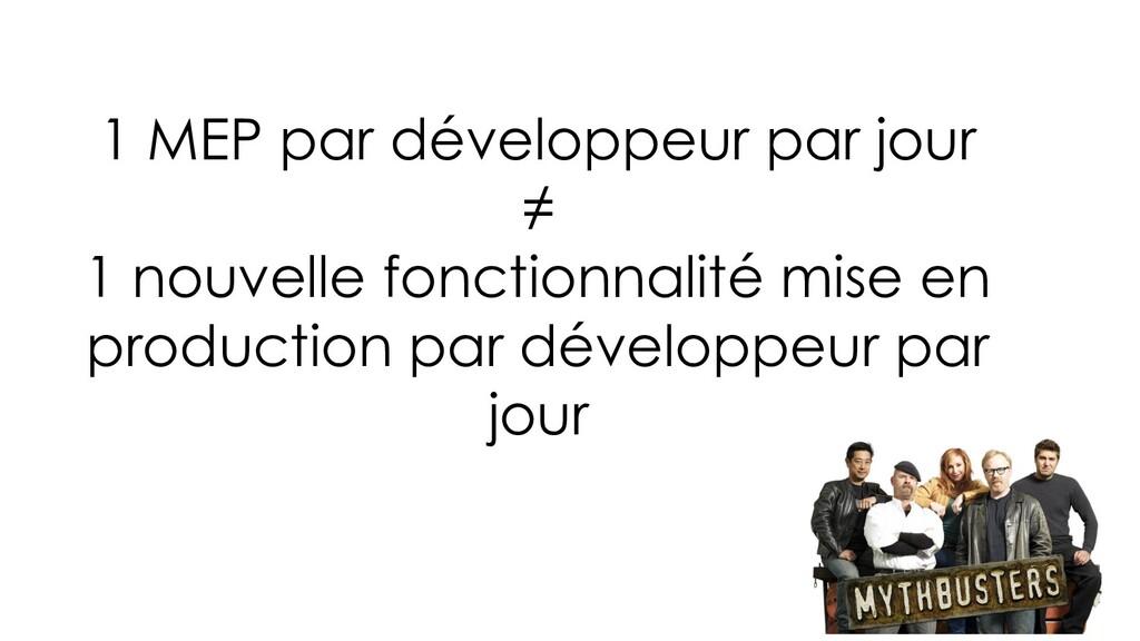 1 MEP par développeur par jour ≠ 1 nouvelle fon...