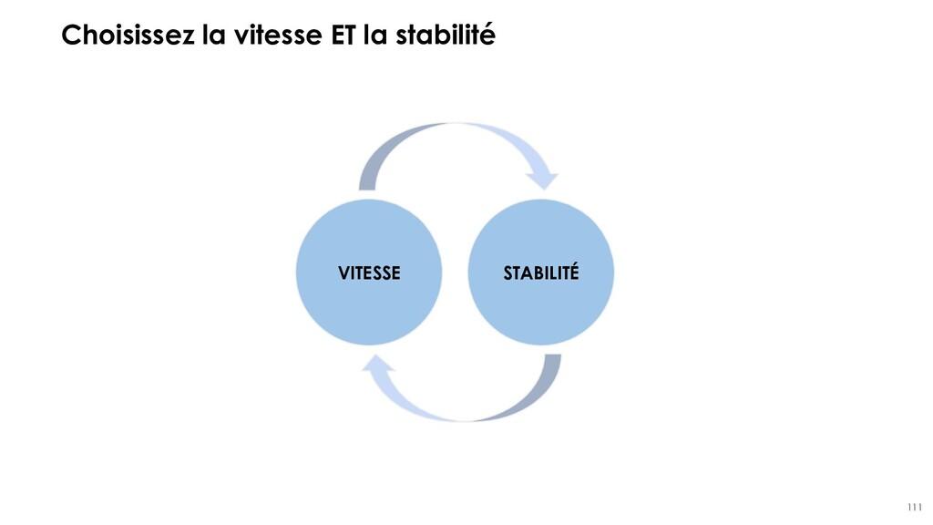 111 Choisissez la vitesse ET la stabilité VITES...