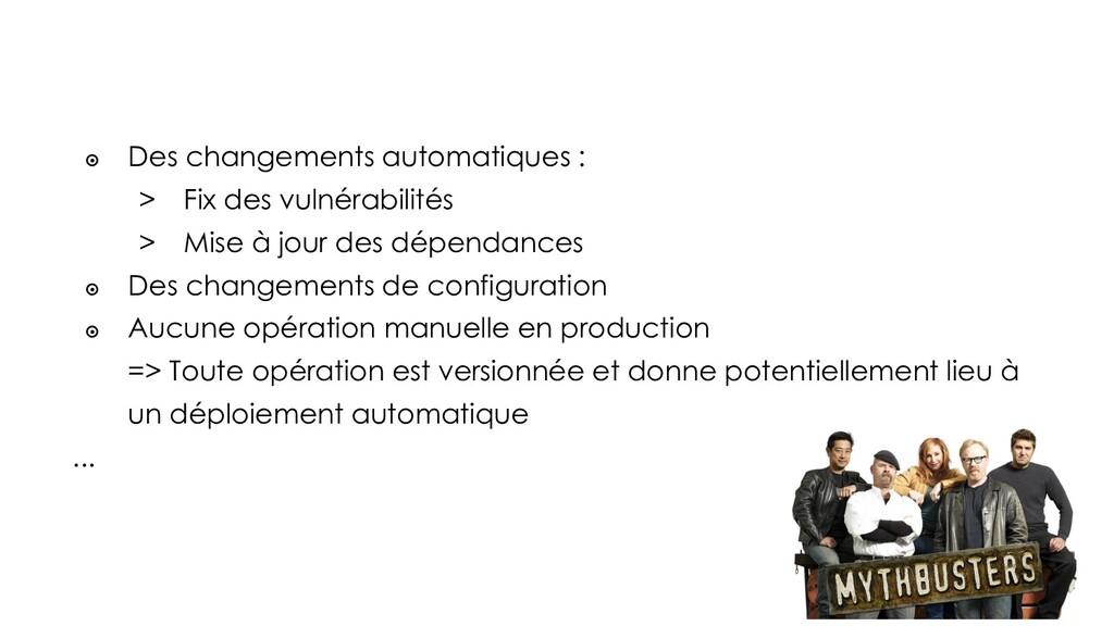 ๏ Des changements automatiques : > Fix des vuln...