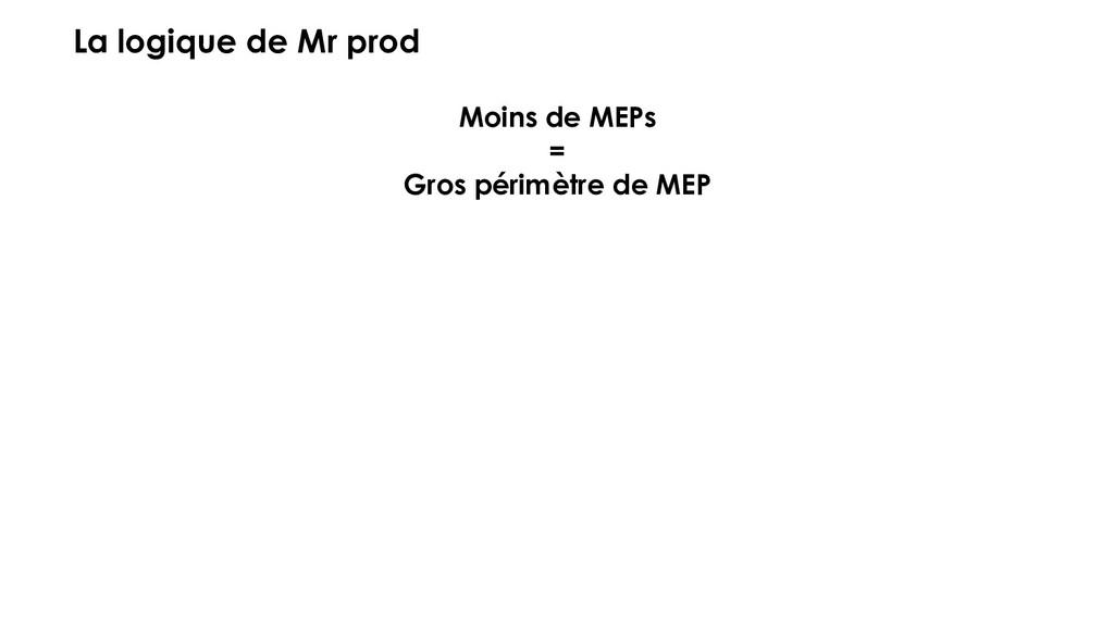 La logique de Mr prod Moins de MEPs = Gros péri...