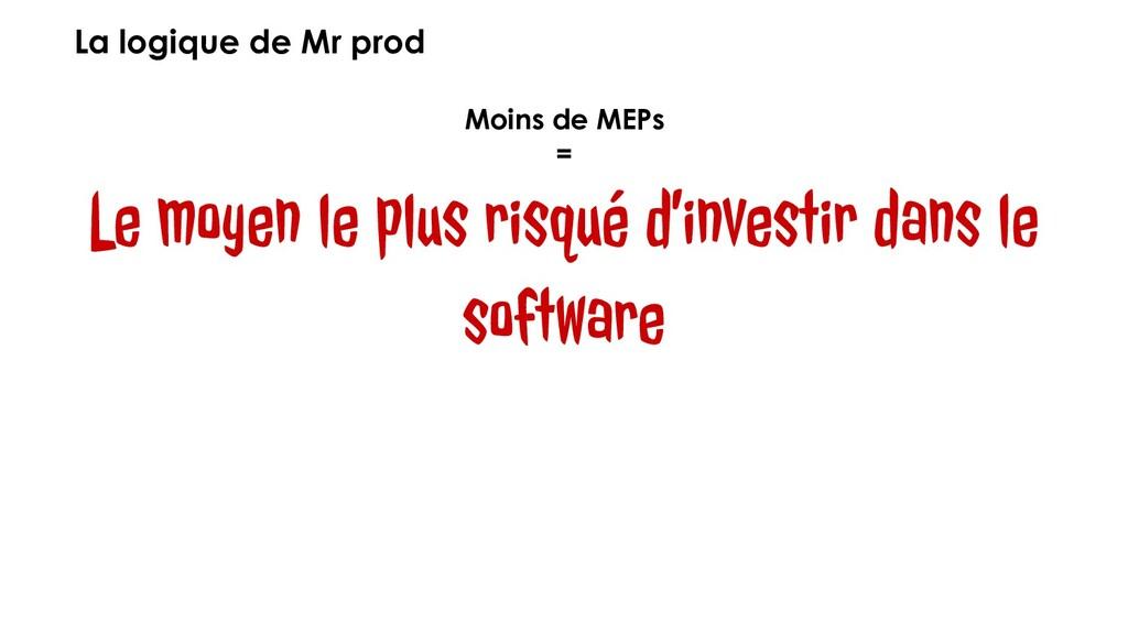 La logique de Mr prod Moins de MEPs = Le moyen ...