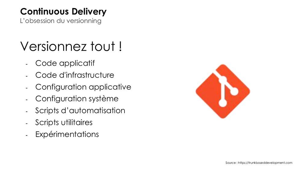 Versionnez tout ! - Code applicatif - Code d'in...