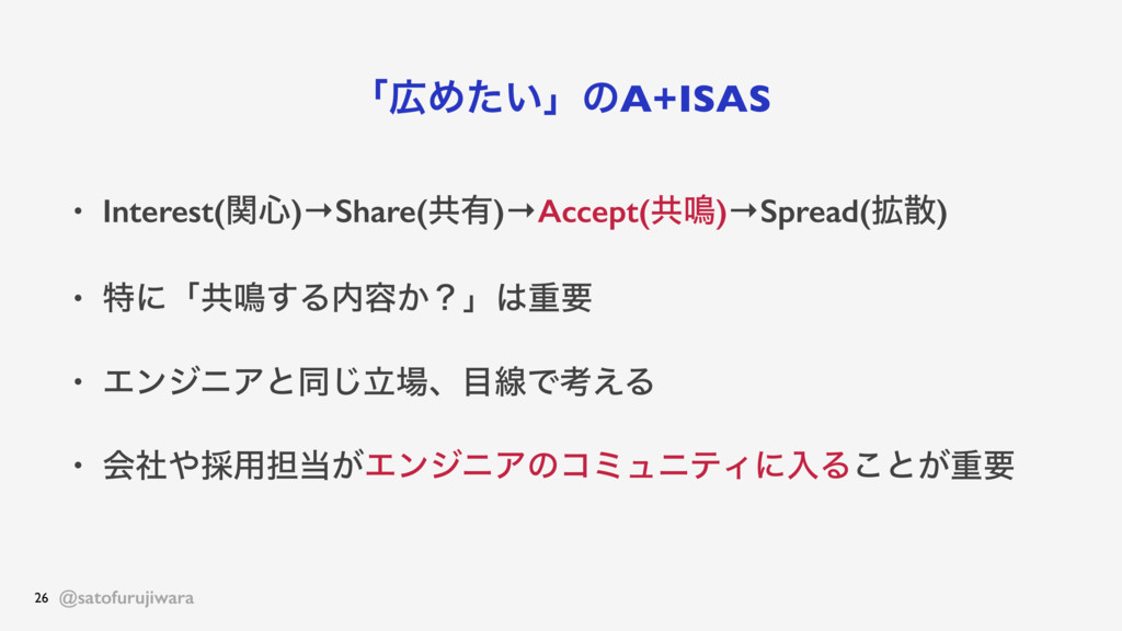 @satofurujiwara ʮΊ͍ͨʯͷA+ISAS • Interest(ؔ৺)→Sh...