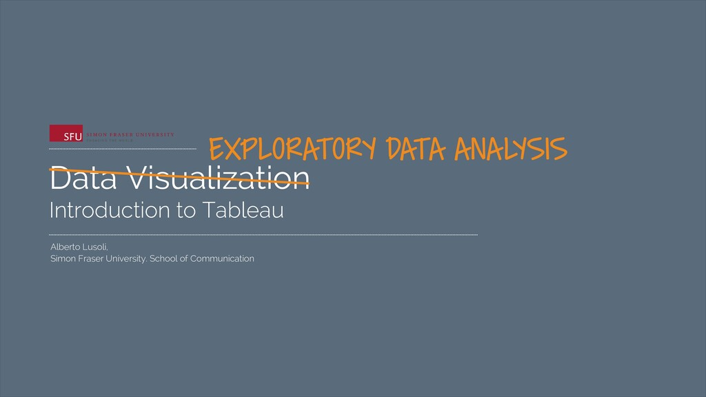 Data Visualization Introduction to Tableau Albe...