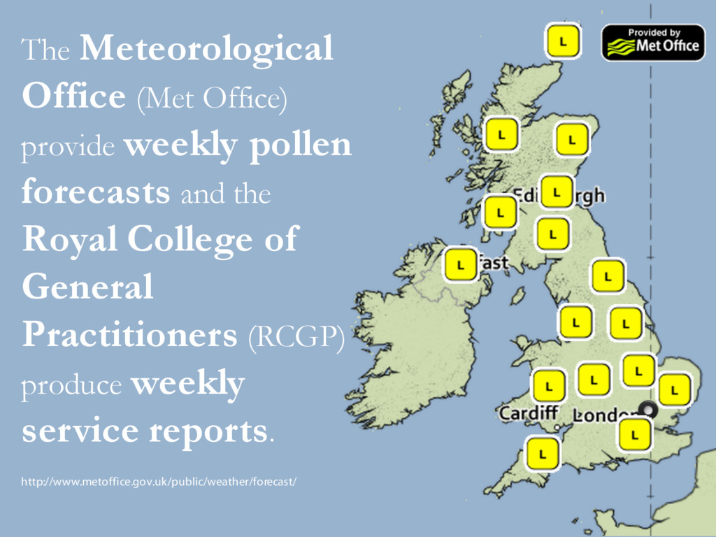 The Meteorological Office (Met Office) provide ...
