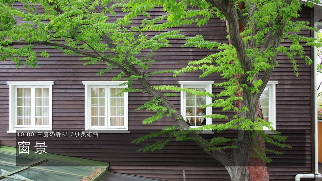 窗 景 1 0 : 0 0 三 鷹 の 森 ジ ブ リ 美 術 館