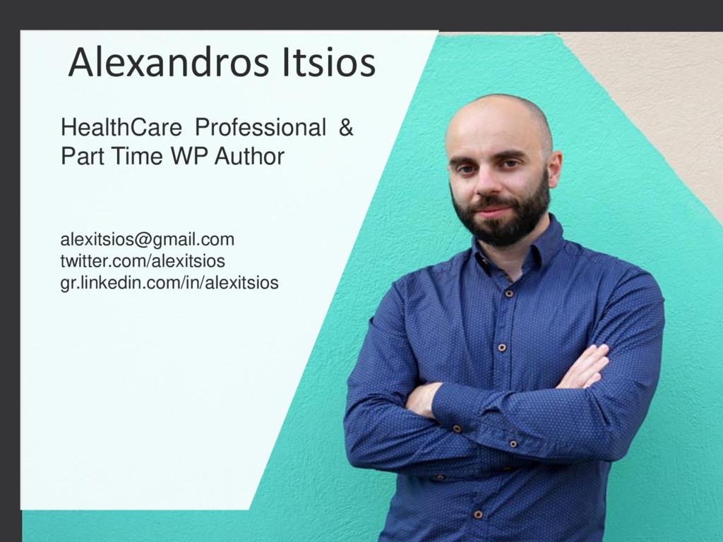 1 STARTUP X 1 Alexandros Itsios HealthCare Prof...