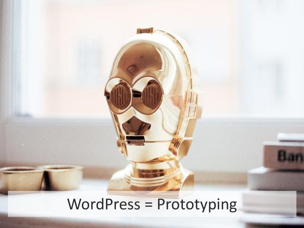 20 STARTUP X 20 WordPress = Prototyping