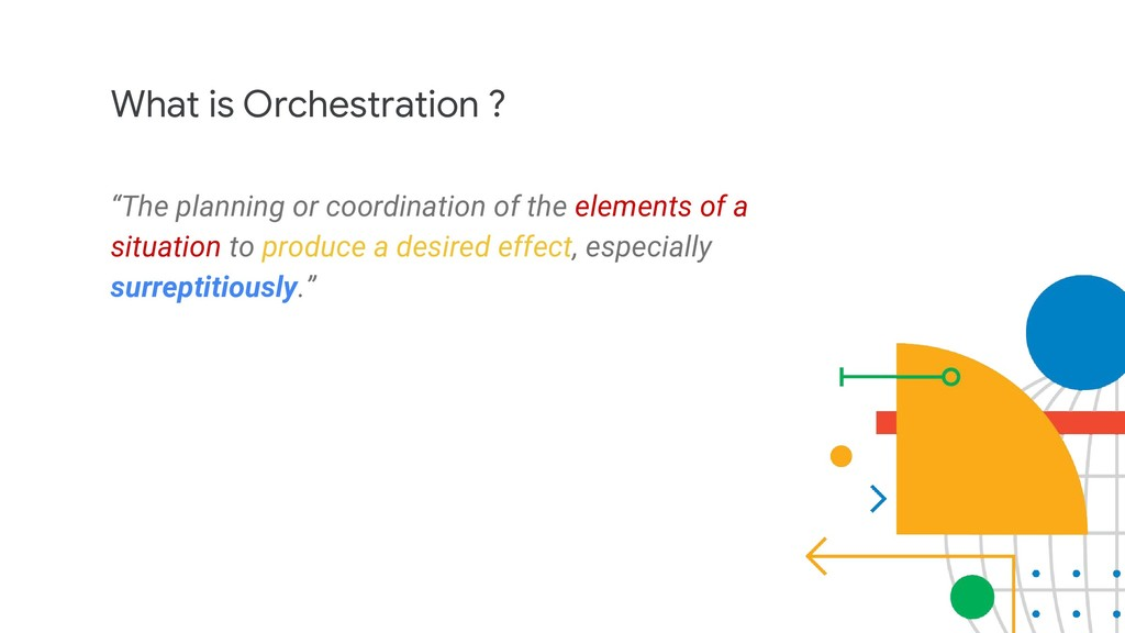 "What is Orchestration ? ""The planning or coordi..."