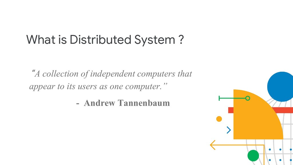 "What is Distributed System ? ""A collection of i..."