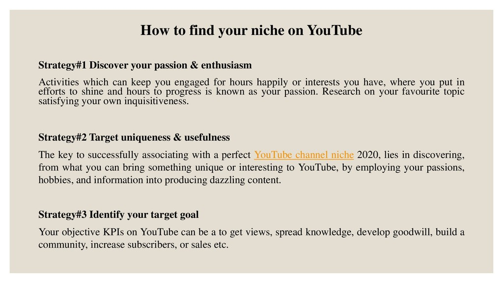 How to find your niche on YouTube Strategy#1 Di...
