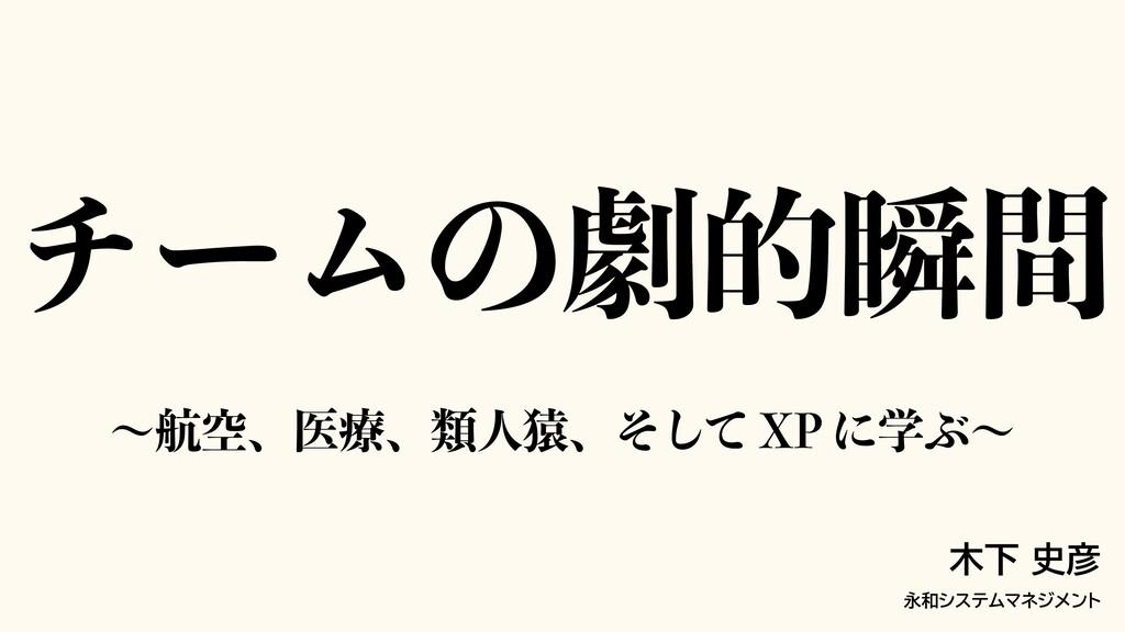 νʔϜͷܶతॠؒ 木下 史彦 永和システムマネジメント ʙߤۭɺҩྍɺྨਓԐɺͦͯ͠91ʹ...