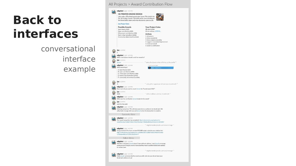 conversational interface example Back to interf...