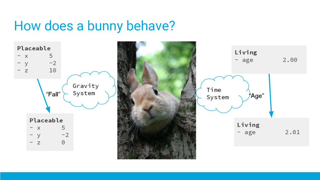 How does a bunny behave? Placeable - x 5 - y -2...