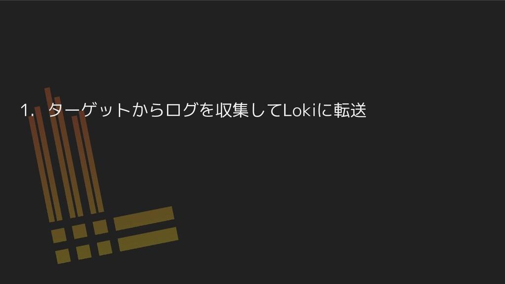 1. ターゲットからログを収集してLokiに転送