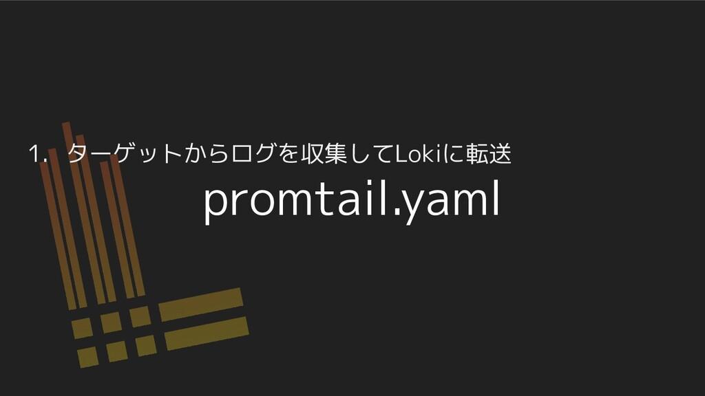 1. ターゲットからログを収集してLokiに転送 promtail.yaml