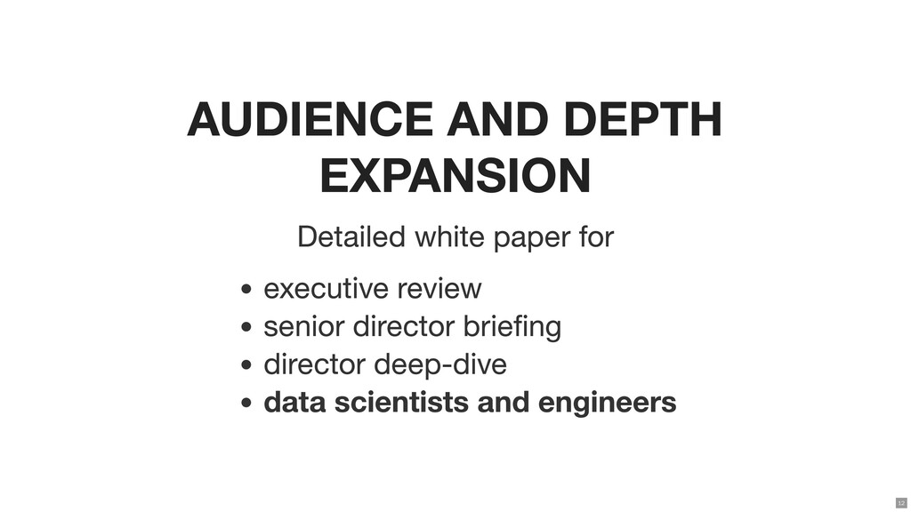 AUDIENCE AND DEPTH EXPANSION Detailed white pap...
