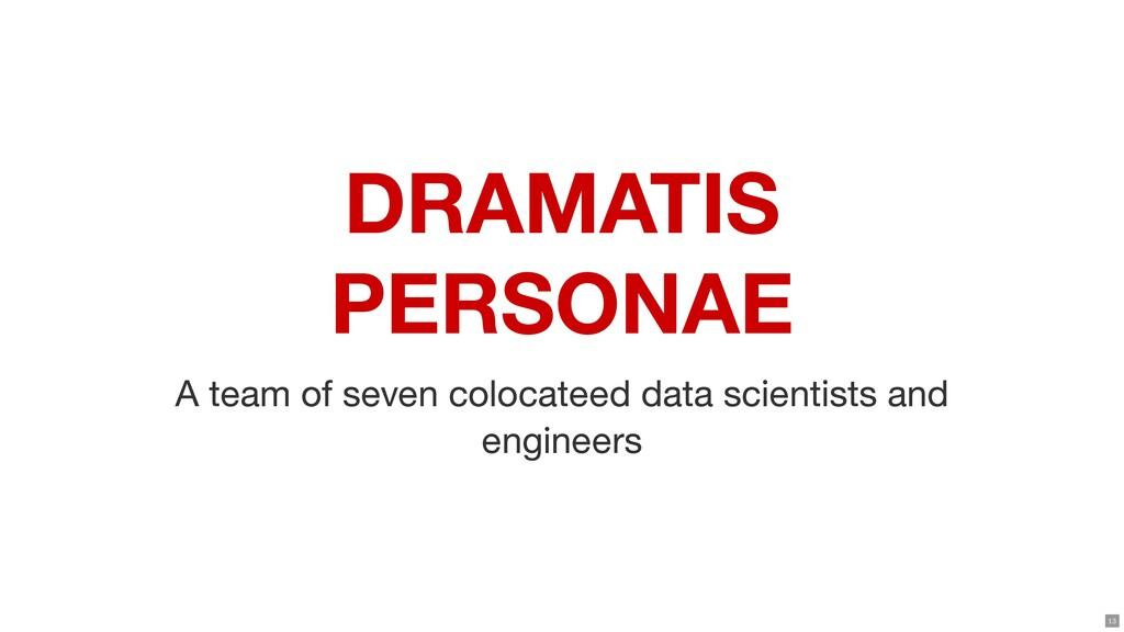 DRAMATIS PERSONAE A team of seven colocateed da...