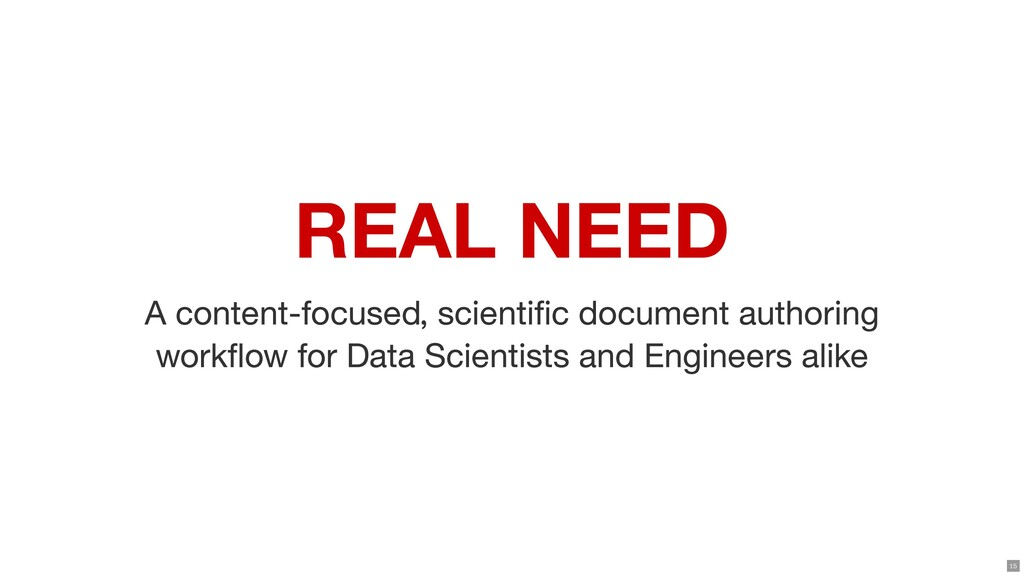 REAL NEED A content-focused, scientic document...