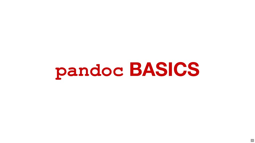 pandoc BASICS 29