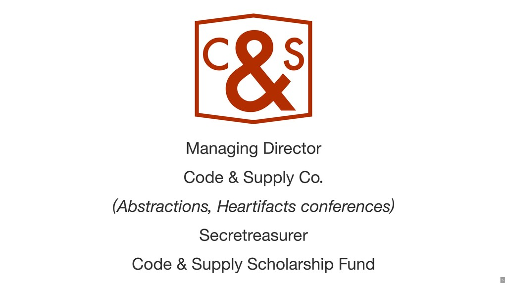 Managing Director Code & Supply Co. (Abstractio...