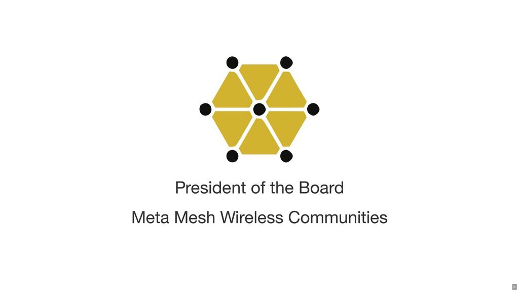 President of the Board Meta Mesh Wireless Commu...