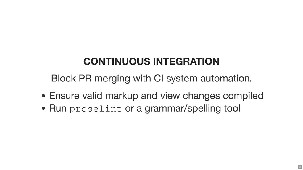 CONTINUOUS INTEGRATION Block PR merging with CI...