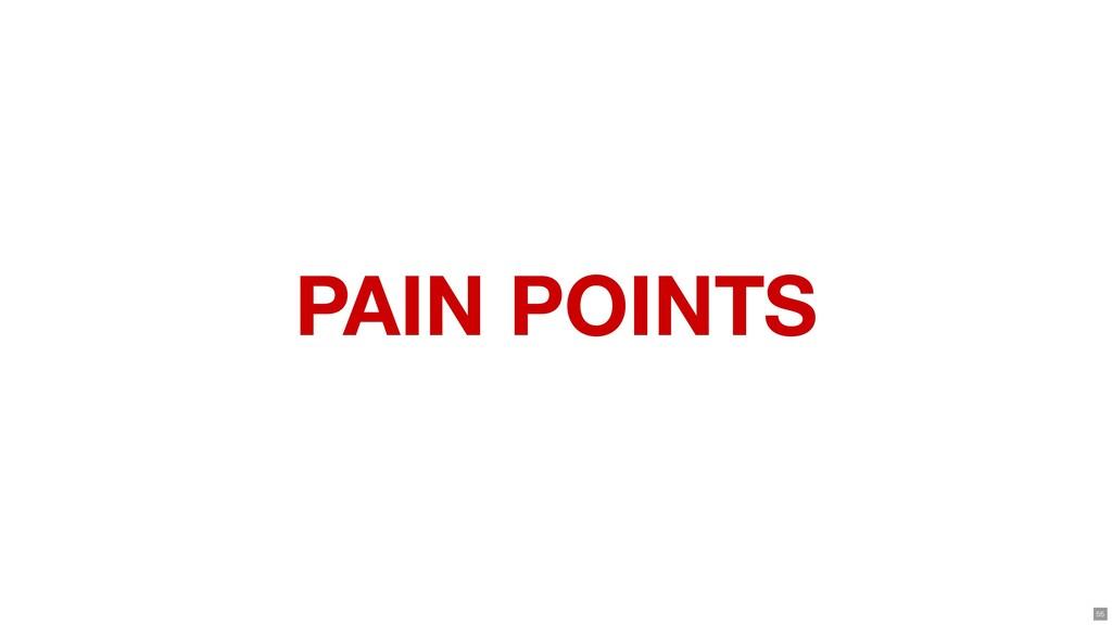 PAIN POINTS 55