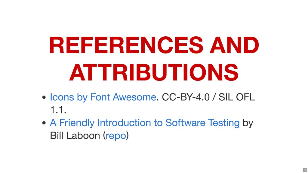 REFERENCES AND ATTRIBUTIONS . CC-BY-4.0 / SIL O...