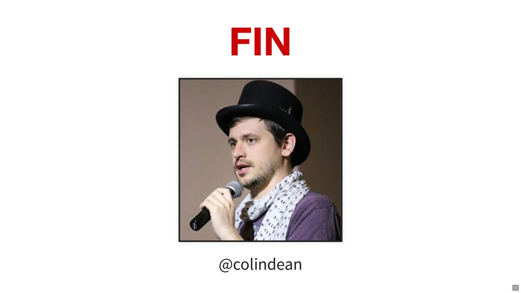 FIN @colindean 72