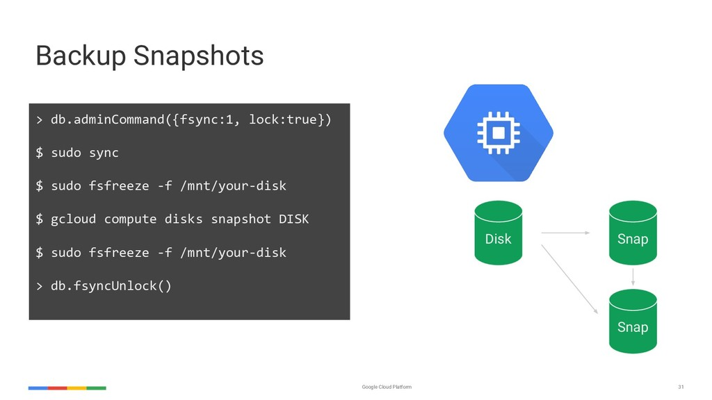 Google Cloud Platform 31 Backup Snapshots > db....