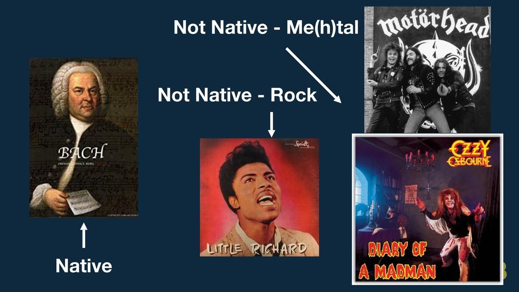 Native Not Native - Me(h)tal Not Native - Rock