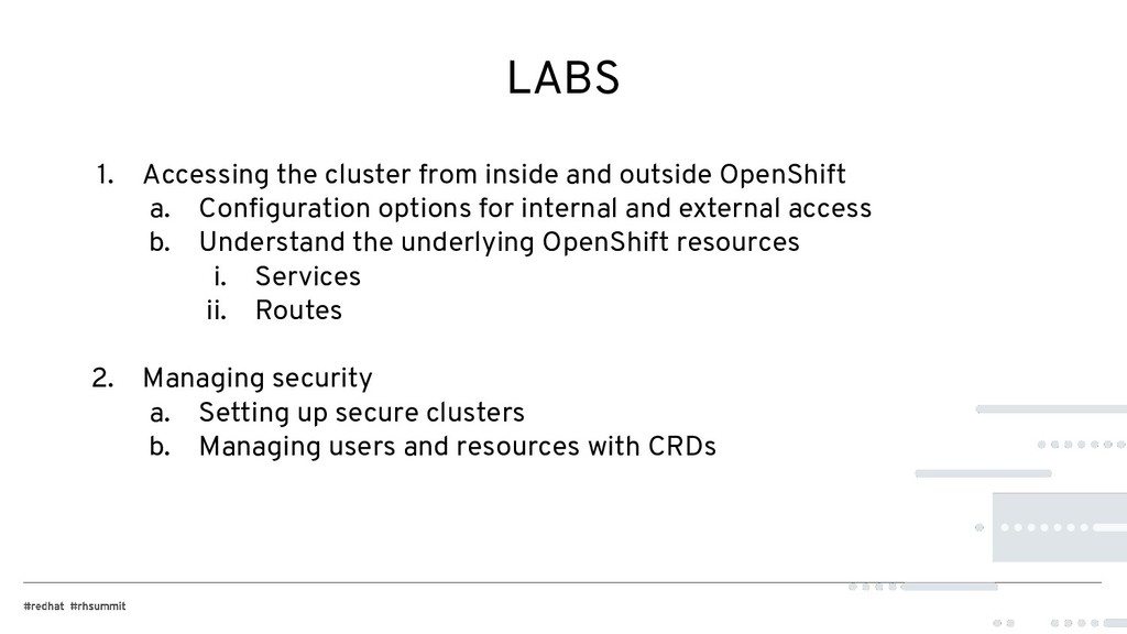 LABS 1. Accessing the cluster from inside and o...