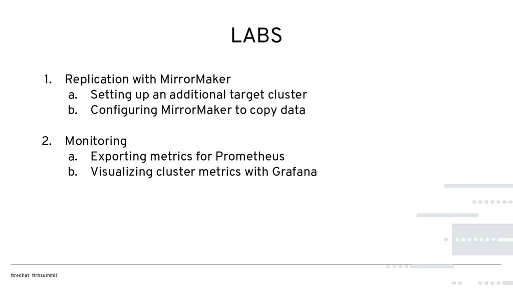 LABS 1. Replication with MirrorMaker a. Setting...