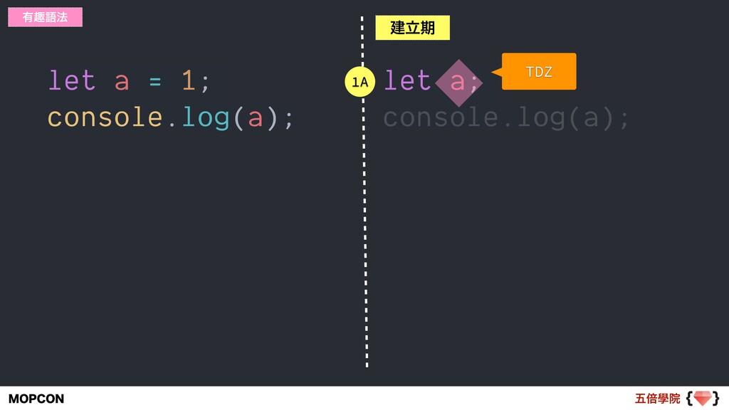 ޒഒላӃ .01$0/ let a = 1; console.log(a); ༗झޠ๏ ݐཱظ...