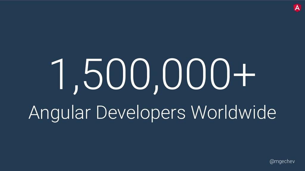 @mgechev 1,500,000+ Angular Developers Worldwide