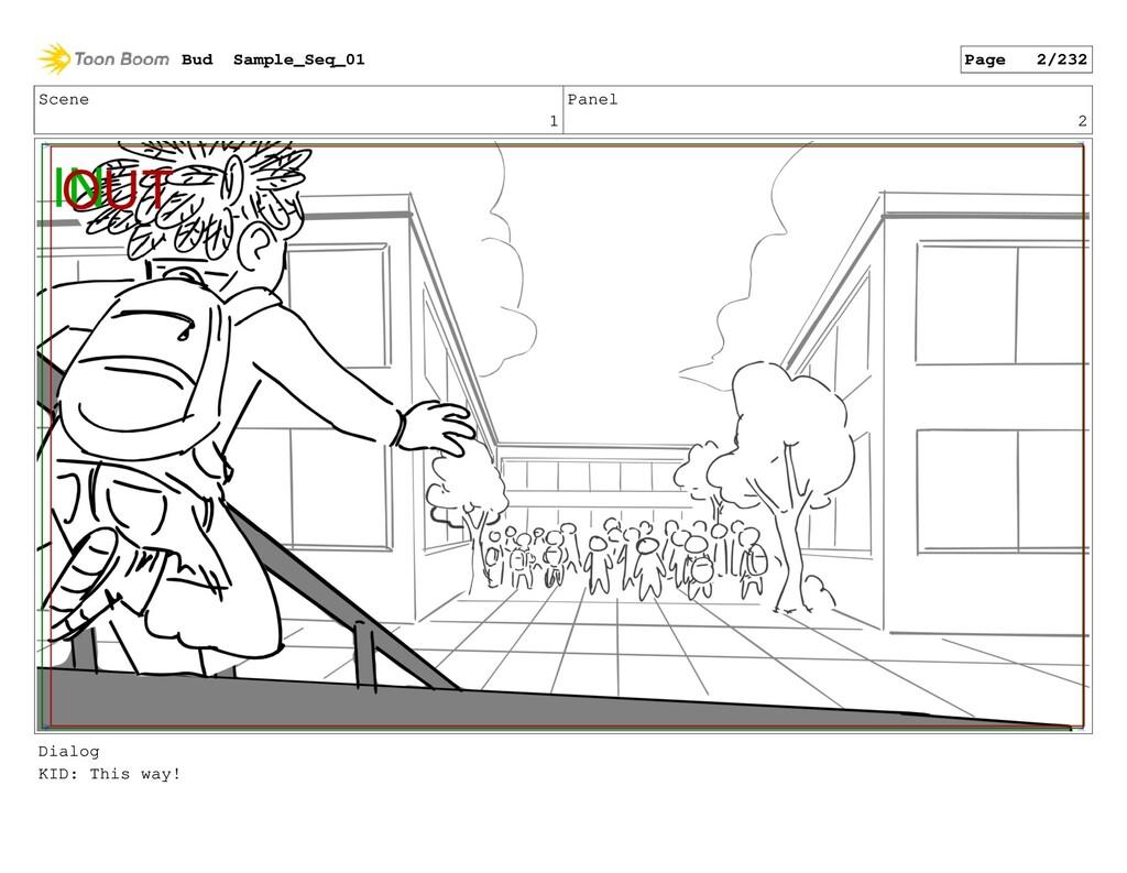 Scene 1 Panel 2 Dialog KID: This way! Bud Sampl...