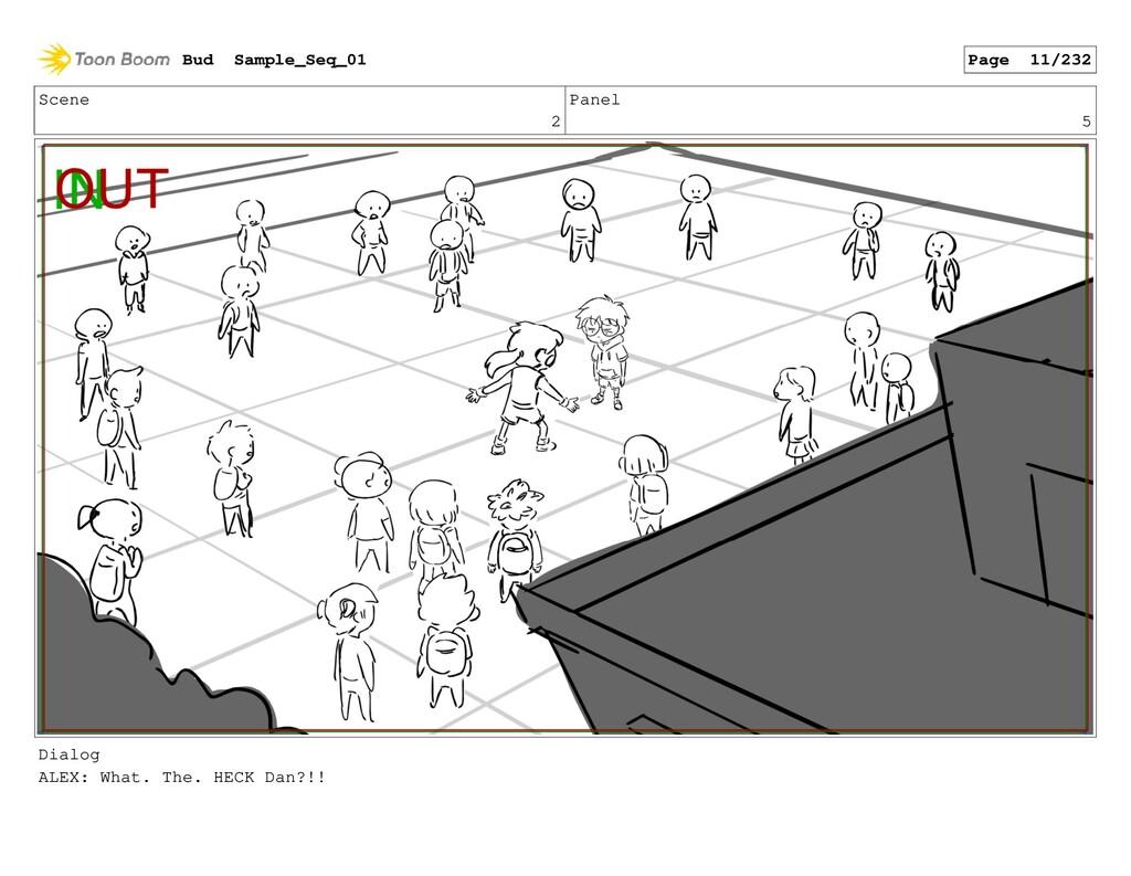 Scene 2 Panel 5 Dialog ALEX: What. The. HECK Da...