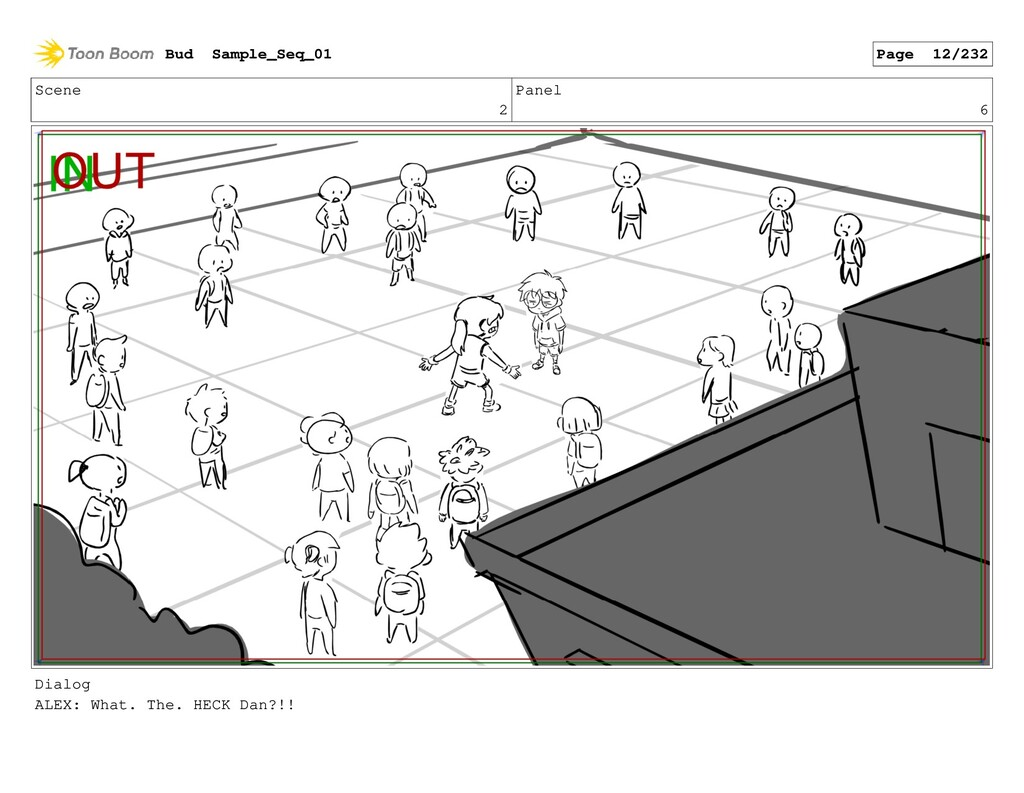 Scene 2 Panel 6 Dialog ALEX: What. The. HECK Da...
